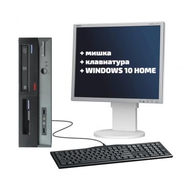"""Lenovo ThinkCentre A62 + NEC EA191M 19"""" + мишка + клавиатура + Windows 10 Home"""