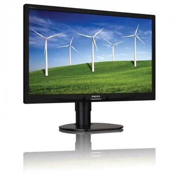 """Монитор Philips 241B4L, 24"""", 250 cd/m2, 1000:1, 1920x1080 Full HD 16:9, VGA, DVI, DisplayPort"""